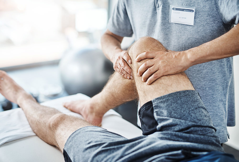 Therapy on a patients knee